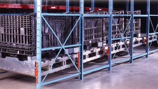 Modular roll back pallet flow rack
