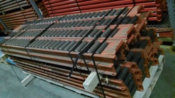 "Interlake 96"" pallet flow rails"